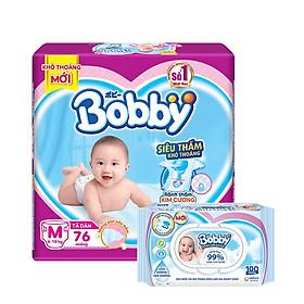 [Tặng Khăn ướt trẻ em Bobby care không hương 100 tờ] Tã-bỉm dán siêu mỏng Bobby đủ size
