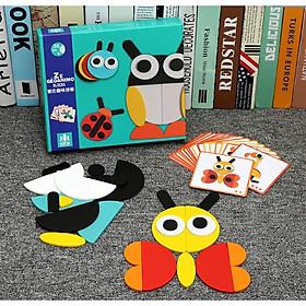 Đồ chơi gỗ - Ghép hình Động Vật - Bộ đồ chơi trẻ em thông minh