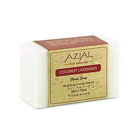 Xà phòng tắm sữa dừa AZIAL Coconut Lavender Floral Soap 100g, xà bông cục handmade dưỡng da mềm mịn, hương thơm nhẹ nhàng, phù hợp mọi loại da