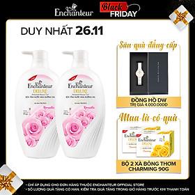 Combo 2 Sữa tắm hương nước hoa Enchanteur Romantic 650gr/ Chai