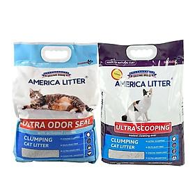 Cát Vệ Sinh Cho Mèo America Litter 10L siêu vón siêu hút mùi (Giao Mùi Ngẫu Nhiên)