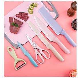Bộ dao kéo 6 món Everrich Kitchen lúa mạch BY9061