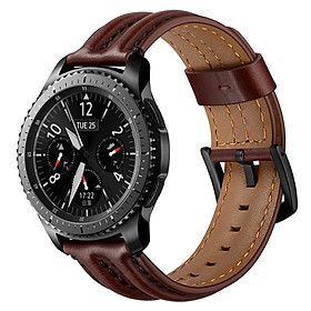 Dây Da Bò Sinewy cho Galaxy Watch 3 45mm / Galaxy Watch 46 / Huawei Watch GT 2 / Ticwatch Pro (Size 22mm)