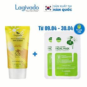 Kem chống nắng Hàn Quốc Lagivado dành cho cả da dầu mụn, nhạy cảm Multi-Protection Sun Screen SPF50+ PA++++ - 30g