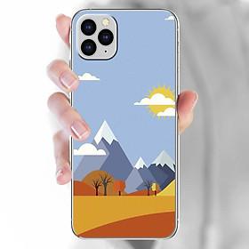 Ốp lưng dành cho iPhone 11 Pro  mẫu Sa mạc, núi