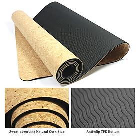 Cork Yoga Mat Natural Cork Mat Anti-slip Exercise Mat Travel Mat-5