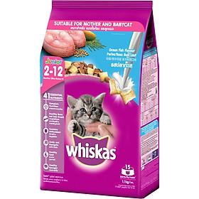 Đồ Ăn Cho Mèo Con Whiskas Vị Cá Biển Và Sữa Dạng Túi 1.1 Kg