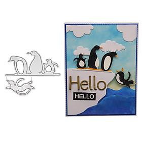 New 2018 Cute Little Penguin Die Cut Metal Scrapbooking Die Party Decoration Greeting Card Accessories