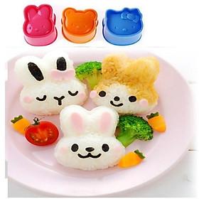 Bộ 3 khuôn tạo hình cơm cho bé ( tặng kèm móc nhà bếp PKS )