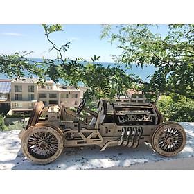 Mô hình gỗ cơ khí, Ugears U9 Grand Prix Car, Xe đua công thức một, Mô hình lắp ráp 3D, DYI, Đồ chơi trí tuệ, nhập khẩu EU