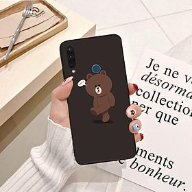Ốp lưng điện thoại VSMART JOY 3 viền silicon dẻo hình Gấu Nâu Cute - Hàng chính hãng