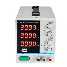 Bộ Nguồn DC Có Thể Điều Chỉnh Màn Hình LED LONG WEI PS-3010DF (110V/220V) (30V) (10A)