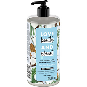 Sữa Dưỡng Thể Phục Hồi Da Love Beauty And Planet Luscious Hydration 400ml
