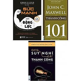 Sách kỹ năng combo 3 quyển: Gieo Suy Nghĩ Gặt Thành Công + Sức Mạnh Của Động Lực - Nghệ Thuật Vượt Lên Những Cám Dỗ Của Cuộc Sống + Thành Công 101- John C. Maxwell (tặng bút TH)