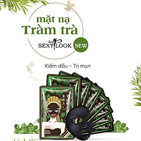 Combo 8 Miếng Mặt Nạ Tràm Trà Kiểm Soát Dầu Và Mụn SEXYLOOK Tea Tree Anti Blemish Black Facial Mask