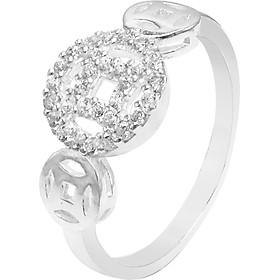 Nhẫn bạc nữ Kim Tiền đính đá - Trang sức Panmila (NN.K4)
