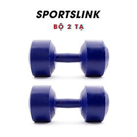 Bộ 2 Tạ Tập Tay Nhựa VN 2kg Sportslink - Xanh