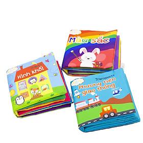 Combo 3 cuốn sách Lalala baby (chủ đề Hình khối, Phương tiện giao thông, Màu sắc) made in Vietnam