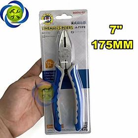 Kìm điện cán xanh trắng C-Mart B0014-7 175mm 7inch
