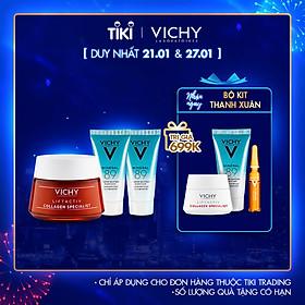 Bộ kem dưỡng Vichy Collagen Specialist & dưỡng chất khoáng cô đặc Mineral 89 giúp da căng mượt và ngăn ngừa lão hóa