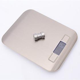 Cân Điện Tử Mini Nhà Bếp Hợp Kim Không Rỉ Chống Chịu Nước Hiển Thị Led Tối Thiểu 1g Đến 5Kg Kèm 2 pin AA