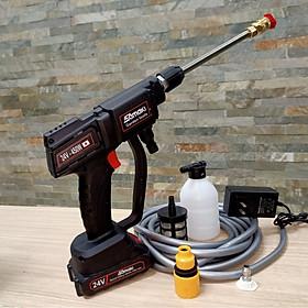 máy xịt rửa xe mini bằng pin sạc samaki - công nghệ x i n - u n g - h o - ế - w a