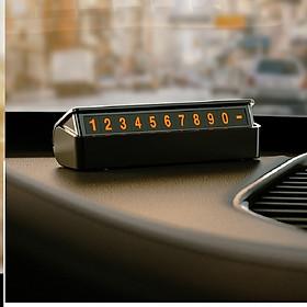 Thẻ số đỗ xe, thẻ gắn số điện thoại để taplo ô tô