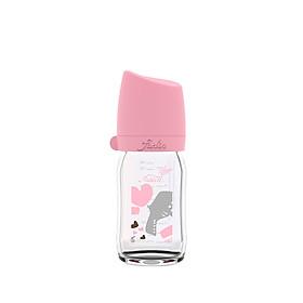 Bình Sữa Thủy Tinh Heart Dove - Hồng Cổ Điển - 240ML