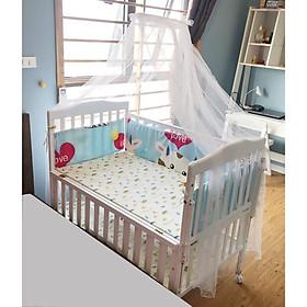 Cũi Cho Bé - Cũi Giường Đa Năng C3T - Thiết kế Bàn Thay tã và Nôi Nhỏ - Tặng Quây Cũi Và Treo Nôi Cho Bé