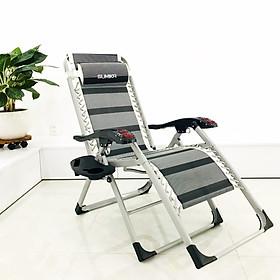 Ghế xếp thư giãn SUMIKA 199 - có lăn tay massage, khung vuông cao cấp, tải trọng 300kg