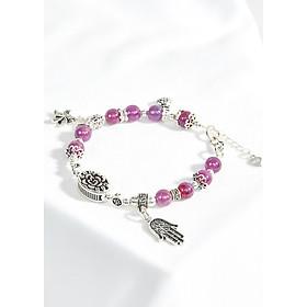 Vòng tay ruby phối charm túi tiền bạc Ngọc Quý Gemstone