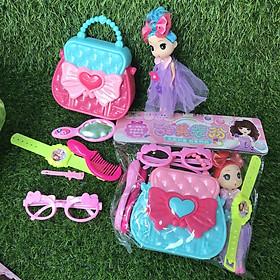 Túi xách trang điểm búp bê Chibi - đồ chơi cho bé gái - Smart Baby