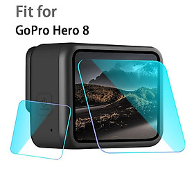 Tempered Glass Lens Film Screen Protector for GoPro Hero 8 Black Camera Toughened Anti-Scratch Display Accessories