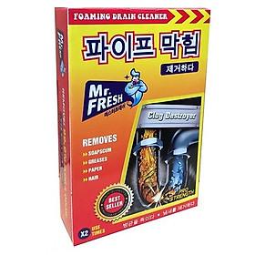 Hộp 2 gói bột thông cống Mr Fresh Hàn Quốc (200g/2 gói)- an toàn cho đường ống