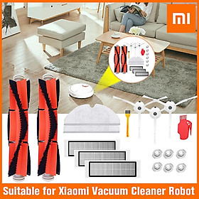 18PCS  Mi Robot Vacuum Cleaner Parts Replacement Main Brush for Xiaomi Robot Roborock S50  for Robo2 Vacuum Cleaner Main Brushes  Filters Side Brushes Water Tank Filters Accessory Kit
