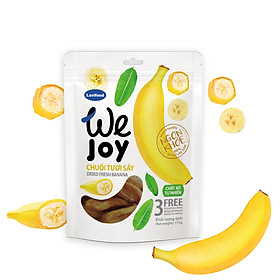 Chuối Tươi Sấy Không Thêm Đường, 100% Trái Cây Tự Nhiên - We Joy (60gram)