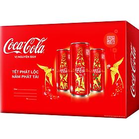 Lốc 24 Lon Nước Giải Khát Coca-Cola vị Nguyên Bản Original 320mlx24