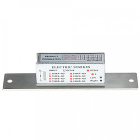 150KG/330lb DC12V Electric Strike Lock Fail Secure NO Power-on Unlock + Anti Backlash Diode for Door Entry Access