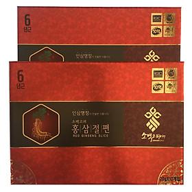 Combo 2 hộp hồng sâm lát tẩm mật ong Sobaek Hàn Quốc 200g