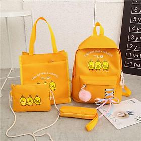 Bộ túi xách balo combo 4 món thời trang 3 VỊT XD82