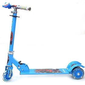 COMBO Xe Trượt  Scooter 3 Bánh Kèm Chuông Cho Bé Vận Động ( có video hướng dẫn lắp xe ) + Bình Uống Nước Hình Thú - TẶNG 1 Tranh ghép gỗ