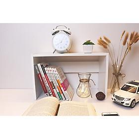 Kệ, Giá Sách Gỗ Để Bàn, Trang Trí Lắp Ghép Tiện Lợi, Nhẹ, Nhỏ Gọn Đa Năng Thông Minh Cao Cấp Nội Thất ZAPI - Màu Trắng