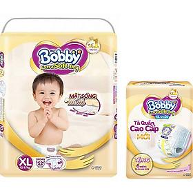 Tã Dán Siêu Mềm Bobby Extra Soft Dry Gói Siêu Lớn XL-52 Miếng (12-17kg) Tặng 6 Miếng Tã Quần Cùng Size