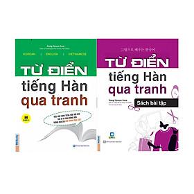 Trọn Bộ 2 Cuốn Từ Điển Tiếng Hàn Qua Tranh ( tặng kèm bookmark )