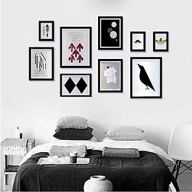 Hình đại diện sản phẩm Bộ 9 khung tranh treo phòng ngủ MS092
