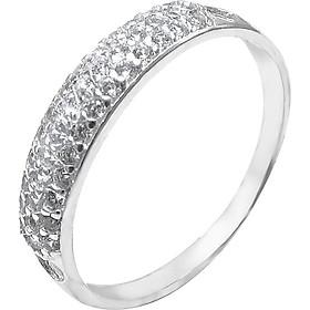 Nhẫn bạc nữ Đính đá cổ điển sang trọng - Kèm hộp - Trang sức bạc PANMILA  (NN.A9.B)