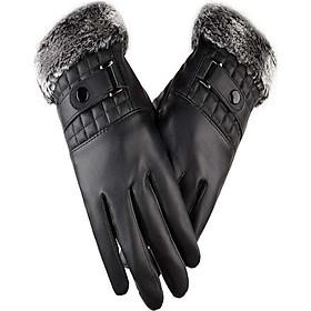Găng tay da nam chống nước chống bong tróc cảm ứng điện thoại