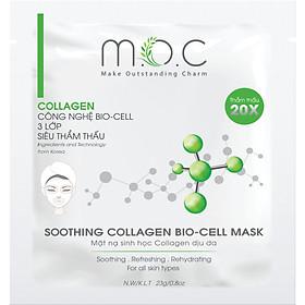 Miếng Mặt Nạ Collagen Dịu Da M.O.C - Nuôi da bóng khỏe, căng mượt & săn chắc. Lý tưởng cho da mụn, da nhiễm Corticoid, da khô, da sau phi/lăn kim