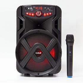 Loa Kéo Bluetooth Mini  Mobell 1021A Hát Karaoke Cực Hay, Bass 25cm Cực Êm, Thời Lượng Pin Từ 6 Đến 8 Tiếng Kèm 1 Micro Không Dây - Hàng Chính Hãng