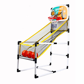 Basketball Arcade Game Indoor/Outdoor Basketball Machine Single Shot Foldable with 3 Basketballs for Children